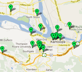 Kamloops Food Map