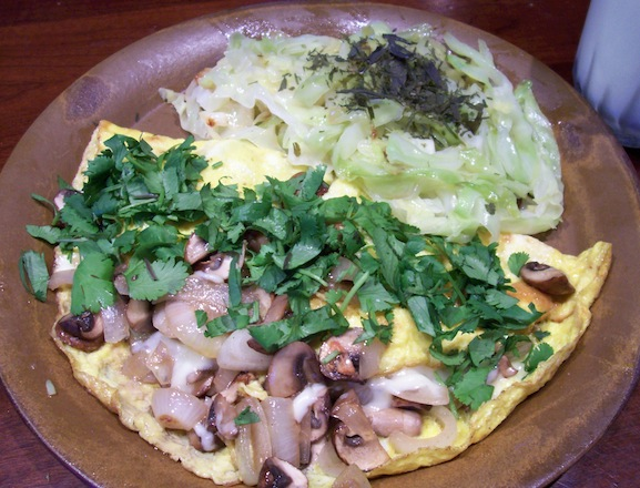 omelette-cabbage