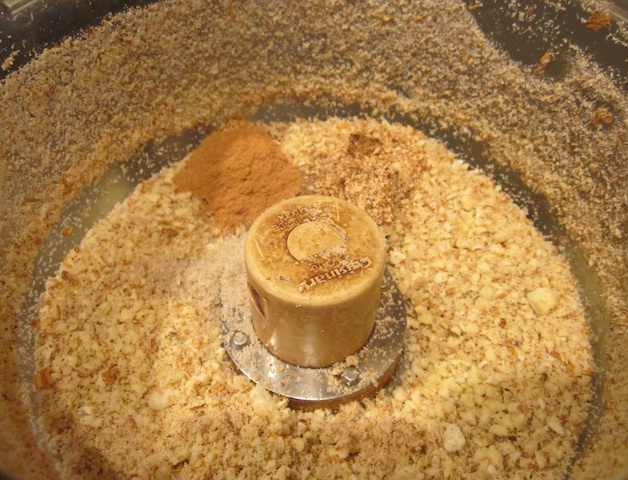 ground almond flour Christmas Fruitcake, Raw Cashew Marzipan with Orange Peel Glaze