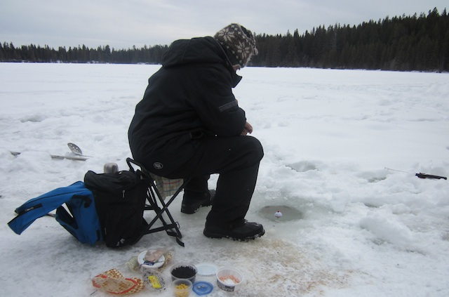Winter foraging and ice fishing photo essay for Rei fishing gear